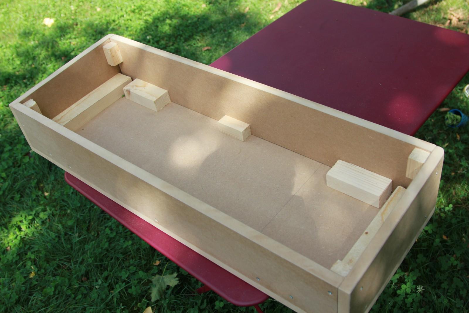 Fabrication du panneau de commande control panel arcade diy - Fabriquer un tiroir en contreplaque ...